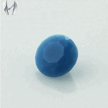 Machine Cut Color Turquoise Cheap Price Big Size Glass Stone