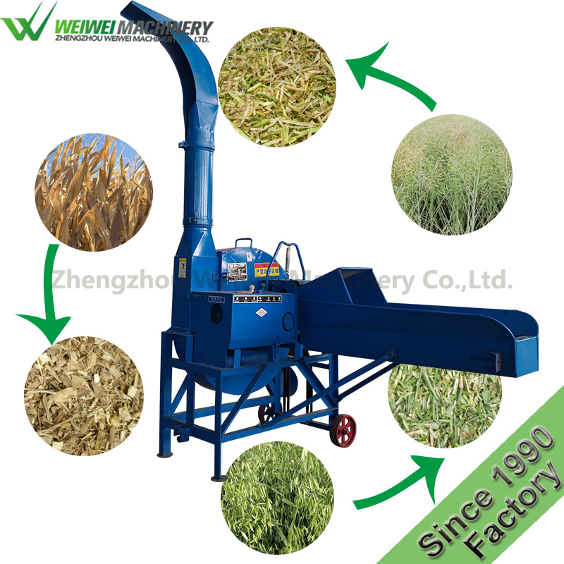 Zhengzhou weiwei fodder cutting machine poultry feed food crusher and mixer