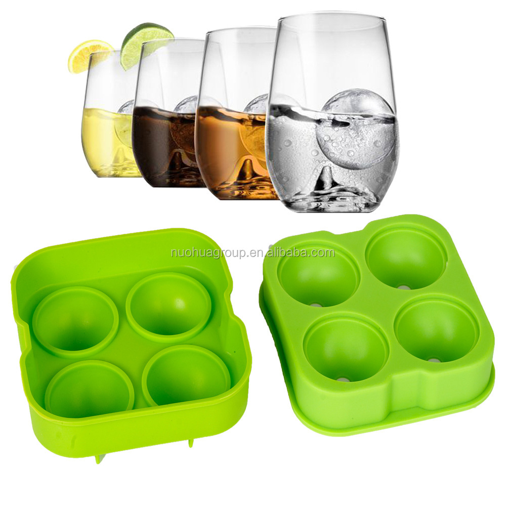 Round shaped Silicone ice cube tray Silicone Ice Cube silicone Ice Mould