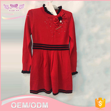 Fashion 100% cotton midium long half turtleneck bodycon red sweater <strong>girl'</strong> <strong>dress</strong>