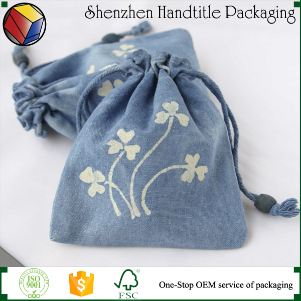 Top quality stylish linen cotton drawstring bag/Handmade soap linen bag
