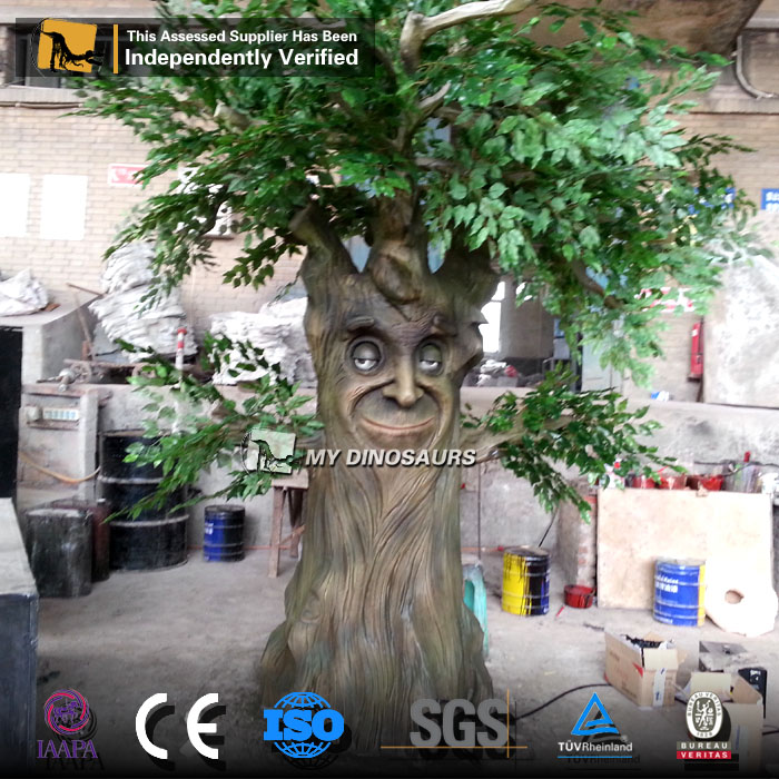 My-Dino Theme Park Fairy Tale Animatronic Talking Tree Face