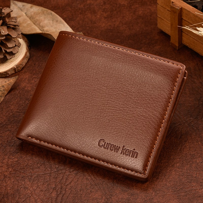 Men wallets leather wallet hasp design men wallets with coin pocket purse 2017 new gift card holder for men carteira