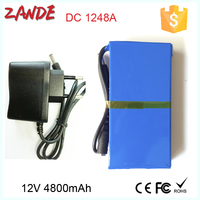 Rechargeable Portable polymer Super 12V 4000mah li-ion battery for led strips