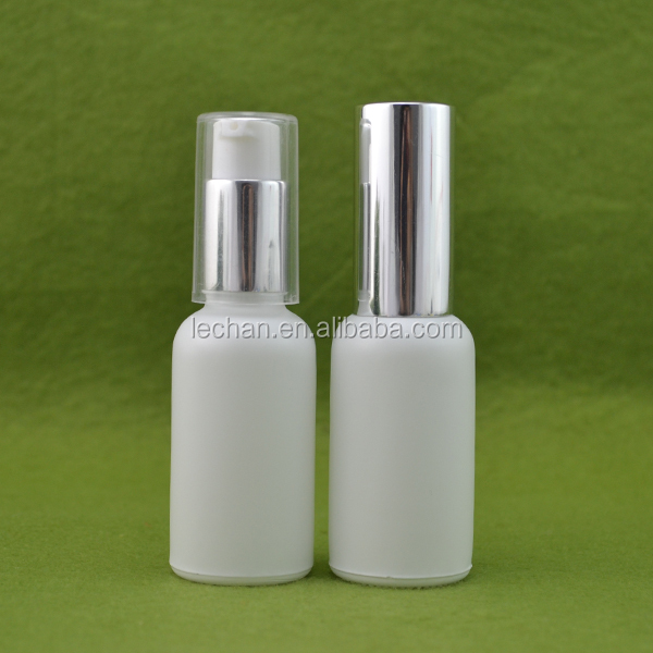 100ml glass pump bottle/ 100ml glass frosted white spray bottle/ electronic cigarette liquid glass bottles