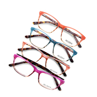 Factory wholesale fashion ladies classic spectacles acetate optical glasses frame