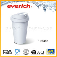 Clear Custom Printed Double Wall BPA Free Transparent Plastic Cup