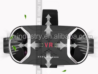 Smartphones 3D VR Box 2.0 Glasses Virtual Reality, Leather Foldable VR Box 2.0 3d Glasses For Sexy Movie