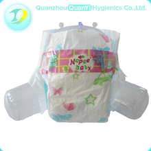 Grade A wood pulp oem disposable nonwoven baby diaper for baby care