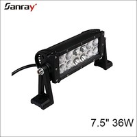dual row top quality 7 inch 36w led mining light bar for car