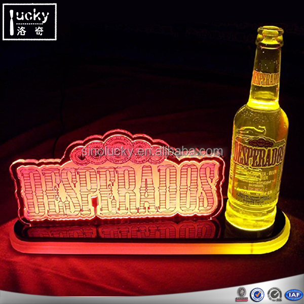 LED Acrylic Wine Display Bottle Stand
