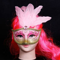 cheap china wholesale Feather latex mask masquerade masks