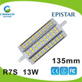High lumen Epistar SMD5050 135mm 13w r7s led in lights&lighting
