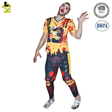 3D Sexy figure printed T-shirt Cosplay Adult Men Bloody Horror Zombie Halloween Cosplay Costume