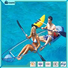 Pedal Ocean Sea Clear Fishing Glass Bottom Boats/Crystal Clear Transparent Kayak