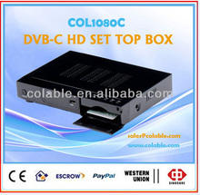 hd receiver tv box, dvb-c set top box,cable tv box COL1080C