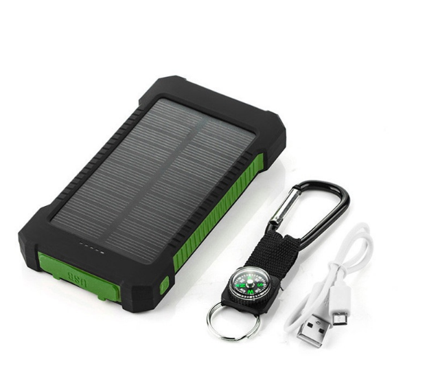 Hot real capacity 10000mah portable mobile solar power bank with dual USB made in China