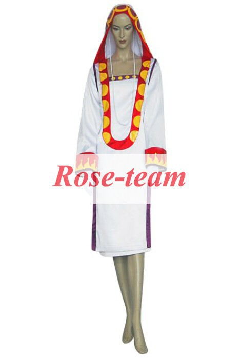 Fantasia Anime Lolita-Top Quality Final Fantasy XII 12 Yuna White Mage Cosplay Costume Cheap Costumes C0691
