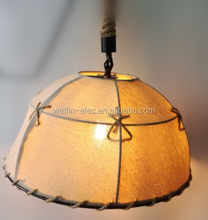 Wholesale Hemp Chandelier Retro Lighting Old Industrial Hemp Rope Pendant Light for Clothing Shop