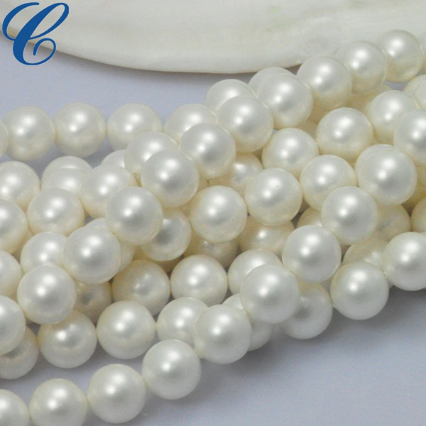 AAA Perfect Round White shell Pearl
