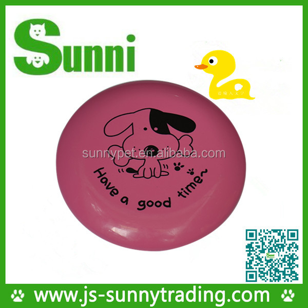 "Customed Printing PP 9"" promotional dog flying disc pet toy(made in china)"