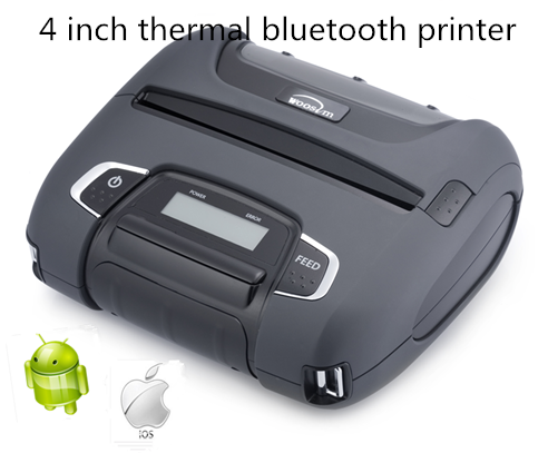 4'' mobile thermal bluetooth portable mini printer Woosim WSP-I450 for android&ipad