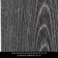 cheap 0.5mm 1mm decorative engineered black apricot wood veneer for furniture wall hotel of shengpai,china