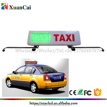 Customized Waterproof outdoor use LED taxi with hook fixed on the taxi roof save 20% factory direct selling LED RG TAXI