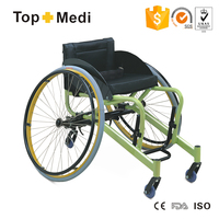 Rehabilitation Therapy Supplies Topmedi high end leisure sports quick release wheel active badminton wheelchair