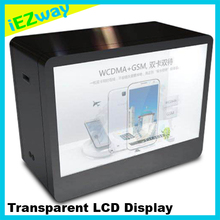 2017 iEZway Hot Selling China Factory Alibaba Com Transparent LCD Glass Display Showcase