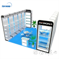 Detian offer shanghai exhibition shelves booth construction show exhibition stand