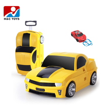 New car style kids travel case kids luggage trolley with radio control HC391329