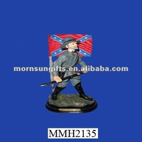 Promotional handmade polyresin civil war items