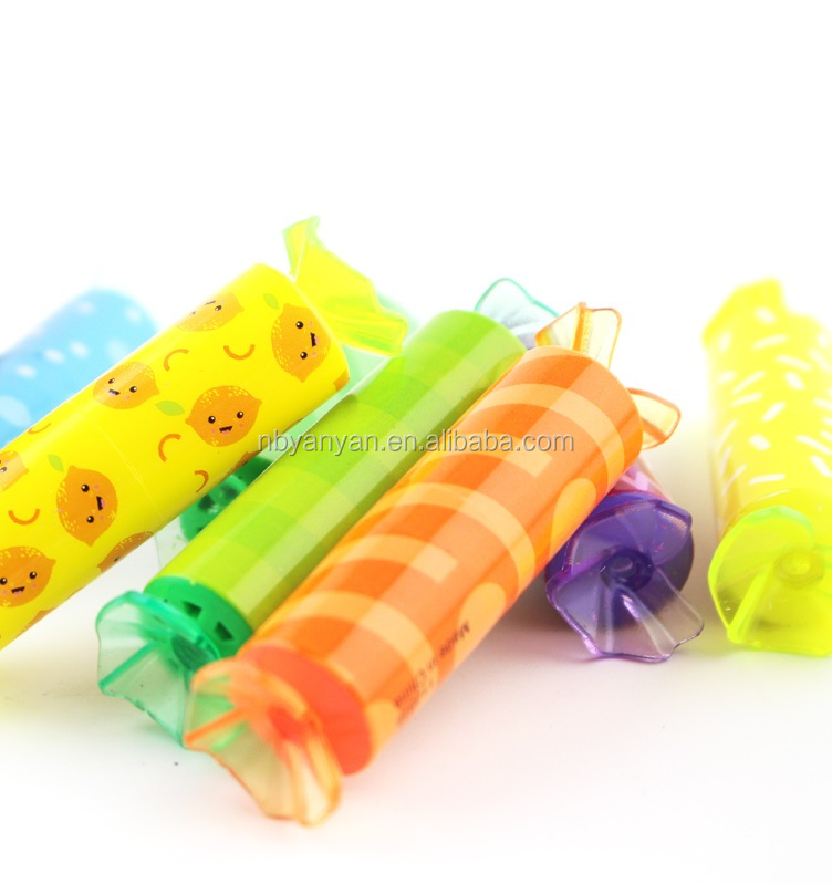 mini or short highlighter pen nice candy Shaped Highlighter pens in a Sweet Jar CH-6379, candy highlighter