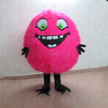 Smile mascot costume/long plush cosplay mascot costume for adult