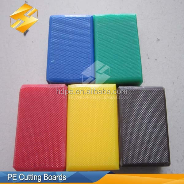 Medium size kitchen Square plastic cutting board PE board pier antibacterial thickening chopping block board