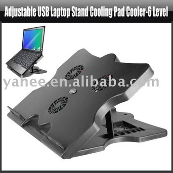 Adjustable USB Laptop Stand Cooling Pad Cooler-6 Level,YAN101A