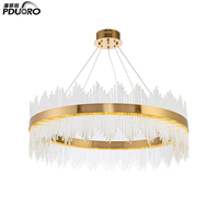 2018 modern decoration large luxury commerical art glass crystal wedding chandelier lighting for hotel lobby SJ1051
