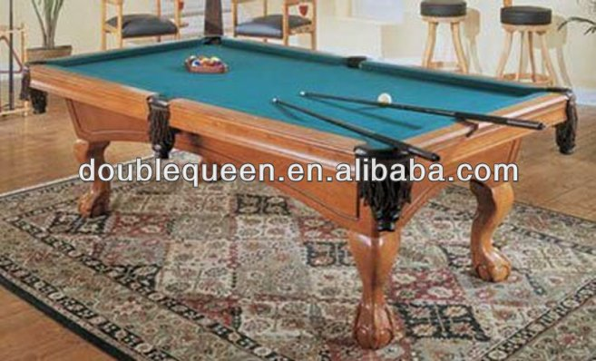 game play snooker table with Chinese Culture stone