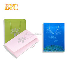 ECO-friendly promotional custom hand paper carry bag with dolphin cover