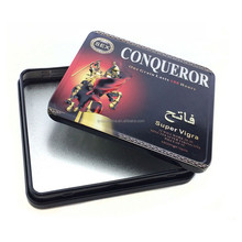 shallow square metal tin box for phone battery