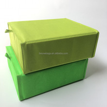 2-Pack Cube Small Storage Box Container Waterproof Polyester Cardboard Storage Box with Lid
