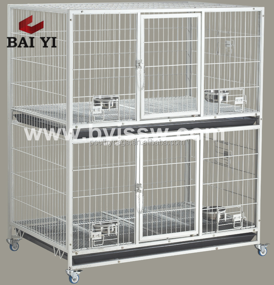 Durable Two Tiers Double Dog Cage With Spacer Cheap Wholesale In America (Good Quality)