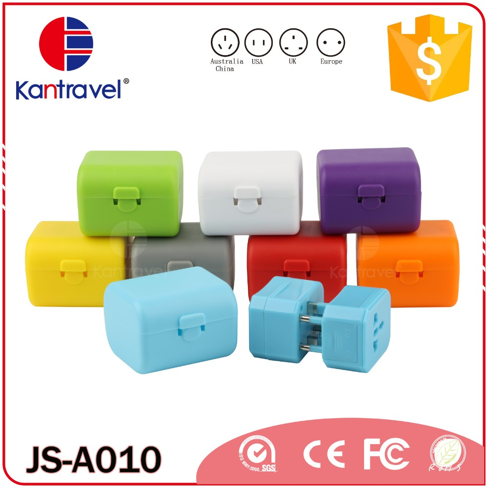 Gift set promotional travel power adapter merchandising promotional gift USB adapter