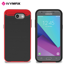 IVYMAX stylish phone cover metallic rubber PC + TPU phone case for Samsung J3 2017