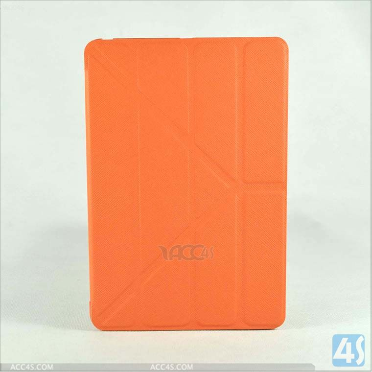 Cross pattern voltage press transformers pu leather case for ipad mini