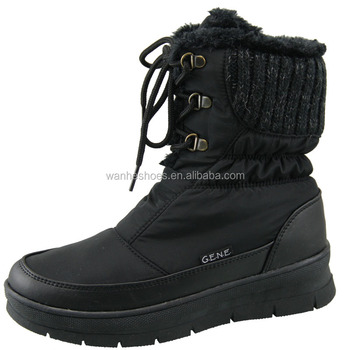 Warm and fashion snow boots for girls soft shell warm fleece lining furry boots