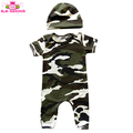 Toddler Boy Clothes Spring Autumn Short Sleeve Long Leg Jumpsuit Cotton Camouflage Printed Newborn Camo Baby Romper