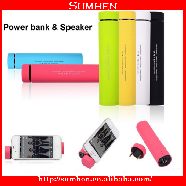 2016 Hot selling 4000mah portable power bank with bluetooth speaker