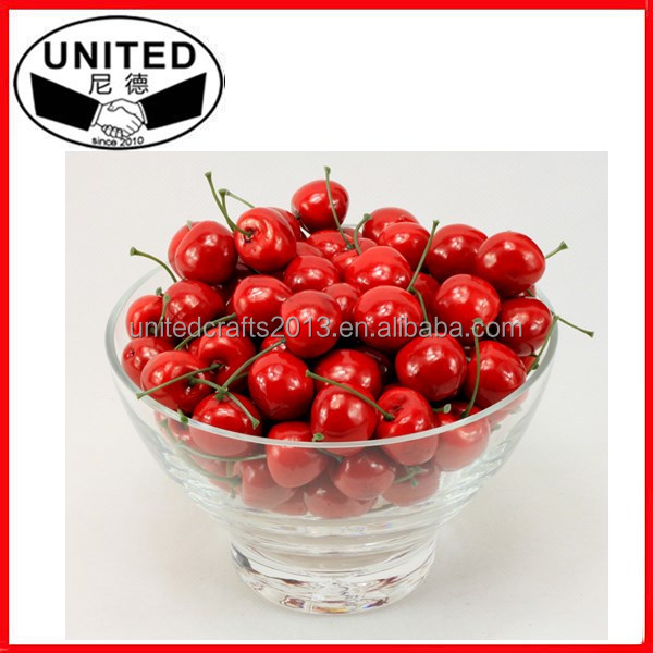 Simulation Small Red Black Cherries Set Decoration fake fruits